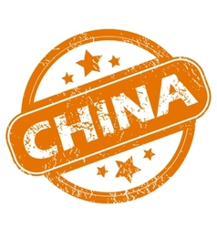 China grunge icon vector