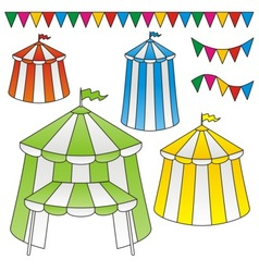 Circus tents vector