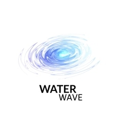 Radial sonar water waves blue purple ray vector