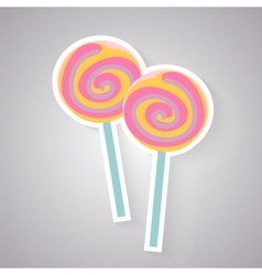 Candy lolly icon vector