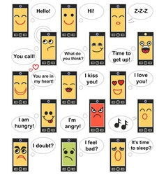 Phone face emotions vector