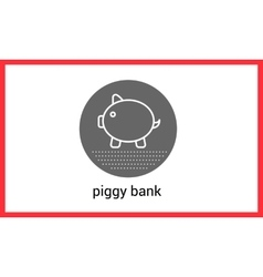 Piggy bank outline contour vector