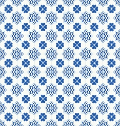 Traditional ornate portuguese tiles azulejos vector