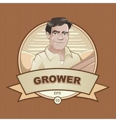 Farmer worker vector
