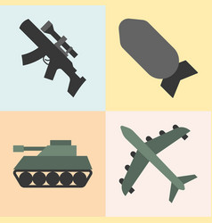 army weapon vector image