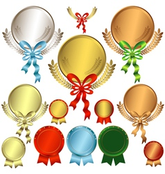 awards with ribbons vector image vector image