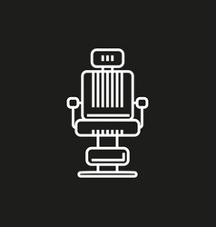 Barber chair simple icon on black background vector