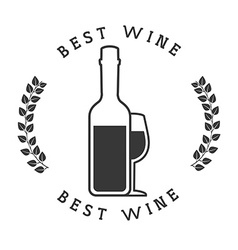 best wine design vector image vector image