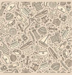 Cartoon nautical seamless pattern vector