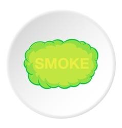 Cloud of smoke icon cartoon style vector image