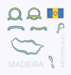 Colors of Madeira vector image vector image