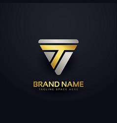 creative letter t logo concept design vector image