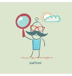 curious vector image vector image