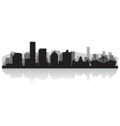 Durban city skyline silhouette vector image vector image