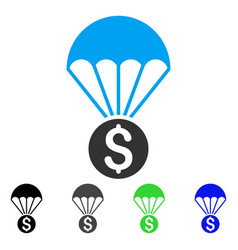 financial parachute flat icon vector image