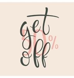 Get 50 percent off sale label vector