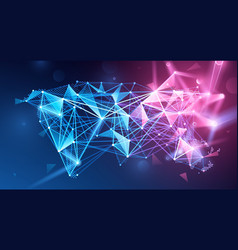 global network polygonal background vector image