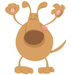 Happy dog pet cartoon vector