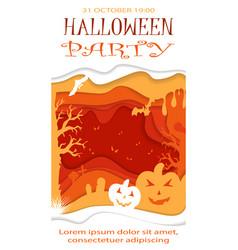 happy halloween poster design template vector image vector image