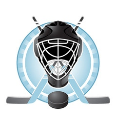 hockey emblem vector image