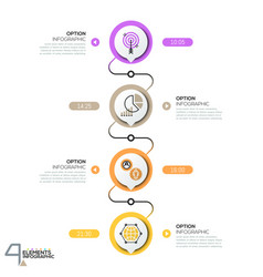 Infographic design template diagram with 4 vector