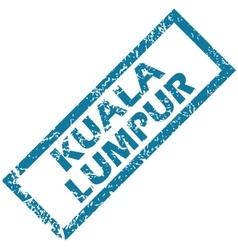 Kuala lumpur rubber stamp vector