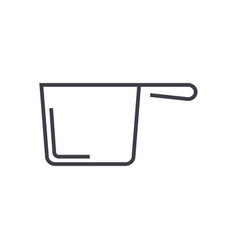 ladle line icon sign on vector image