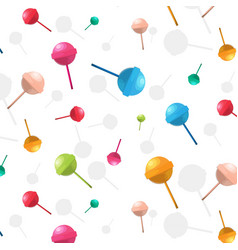 lollipop pattern cartoon dessert candy vector image