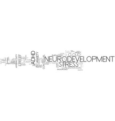 Neurodevelopment word cloud concept vector