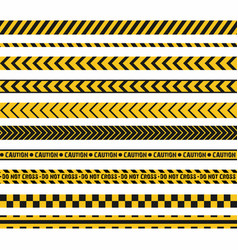 police line crime scene do not cross seamless vector image vector image