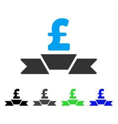 Pound business premium ribbon flat icon vector