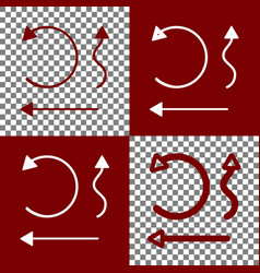 Simple set to interface arrows bordo and vector