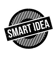 Smart idea rubber stamp vector