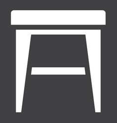 stool solid icon furniture and interior vector image vector image