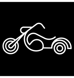 The Motorcycle Icon vector image vector image