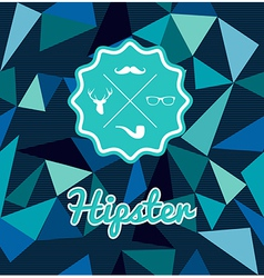 Trendy retro Hipsters badge icons seamless pattern vector image
