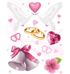 Wedding art for invitations vector