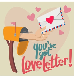 You have Got Love Letter vector image vector image