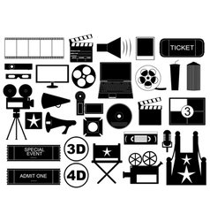 Movie elements vector