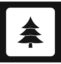 Fir tree icon in simple style vector