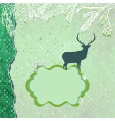 Christmas reindeer card template vector
