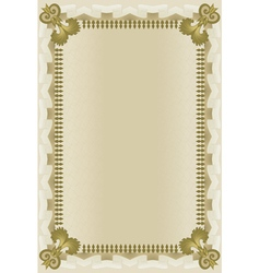 brown frame with wavy grid vector image