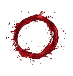 Wine splash circle vector