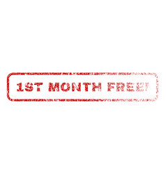 1st month free exclamation rubber stamp vector image