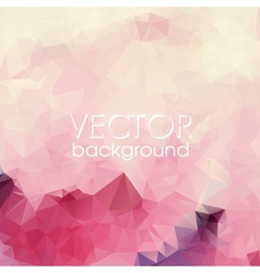 Colorful abstract background with triangles vector