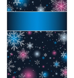 Color christmas background with snowflakes vector