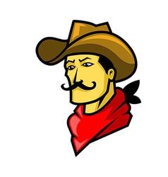 Cowboy Head vector image