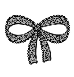 Decorative lacy bow on white background vector