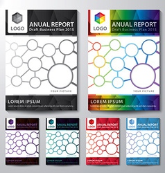 Cover annual report set vector
