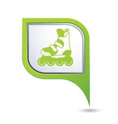 rollerskates GREEN pointer vector image